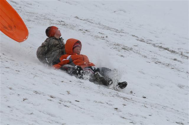 video  enjoying the snow at miller park