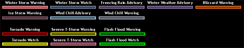 Watch Warning Advisory Legend